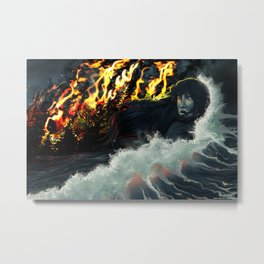 Running to the Sea Metal Print