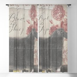 Baa Baa Black Sheep Sheer Curtain