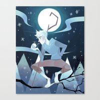 jack frost Canvas Prints featuring Jack Frost by Nadiezda