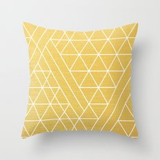 Golden Goddess Throw Pillow