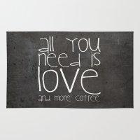 coffee Area & Throw Rugs featuring COFFEe by Monika Strigel
