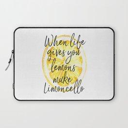 When Life Give You a Lemons Make Limoncello, Kitchen Decor, Wall Art, Hme Decor Laptop Sleeve
