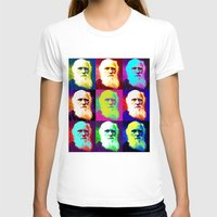 darwin T-shirts featuring Evolution of Darwin by JustDave