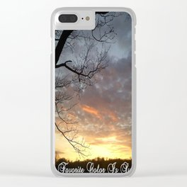 """Sunset Is My Favorite Color"" Clear iPhone Case"