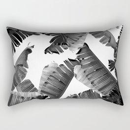 Banana Black & White Rectangular Pillow