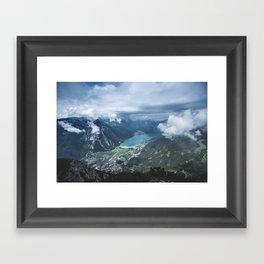 Alpine Lake // Landscape Photography Framed Art Print