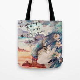 The Glimmering Girl Tote Bag