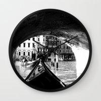 venice Wall Clocks featuring venice by gzm_guvenc