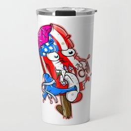 Patriotic Funny Monster Ice Pop Travel Mug