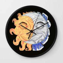 Sun & Moon Together Wall Clock