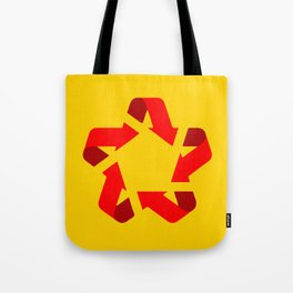 Recycle red star Symbol of new communism Tote Bag