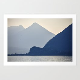 Brienz Lake At Sunset. Alps. Switzerland. Art Print