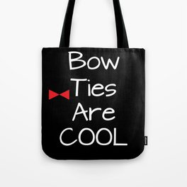 Doctor Who Bow Ties Are Cool red Tote Bag