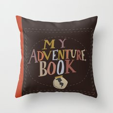my adventure book.. up, carl and ellie Throw Pillow