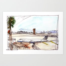 Landing in California Art Print