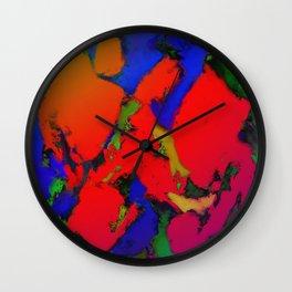Alligator red glow Wall Clock