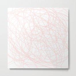 Pink line doodle single line Metal Print