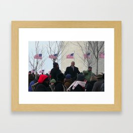 Inauguration Day 2009, Washington D.C.  Framed Art Print