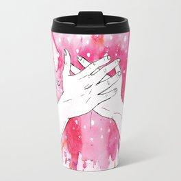exploding heart Travel Mug