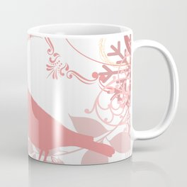 Vintage Look Pink Bird. Coffee Mug