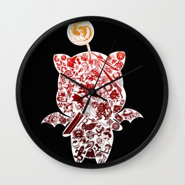 Moogleverse (red) Wall Clock