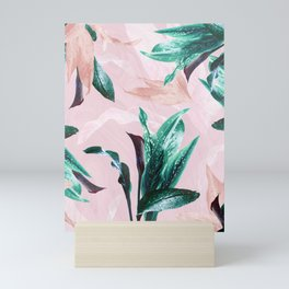 Tropical Floral on Pink. Odessa Calla Lily Mini Art Print