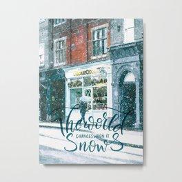 Snow Street Metal Print