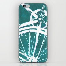 Teal Bike iPhone & iPod Skin