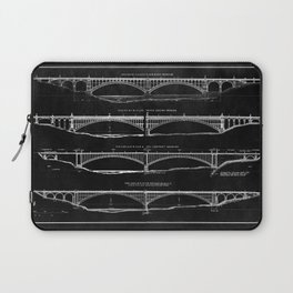 Washington Bridge Proposal Blueprint Laptop Sleeve
