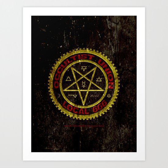 Occultist Union Local 666    019 Art Print
