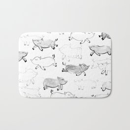 Pigs pattern Bath Mat