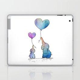 Colorful Watercolor Elephants Love Laptop & iPad Skin