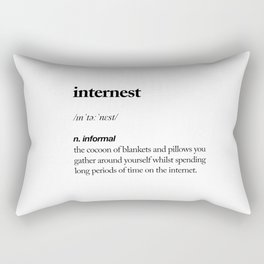 Internest black and white contemporary minimalism typography design home wall decor bedroom Rectangular Pillow