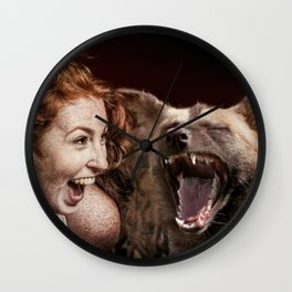 Laughing With Friends Wall Clock
