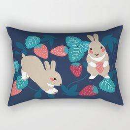 Strawberry Bunny Rectangular Pillow