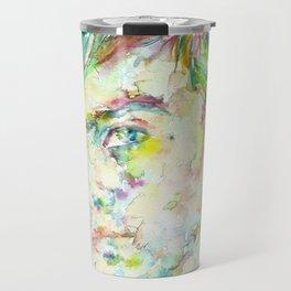 TRUMAN CAPOTE - watercolor portrait Travel Mug