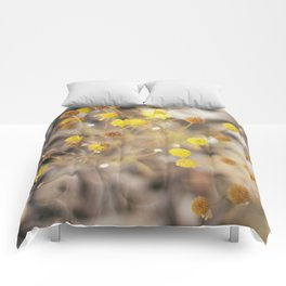 Abstract Botanical - Billy Buttons Comforters