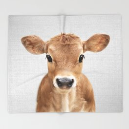Calf - Colorful Throw Blanket