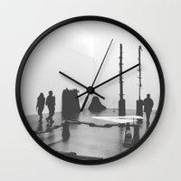 kris tate Wall Clocks featuring Tate by Lorenzo Bini