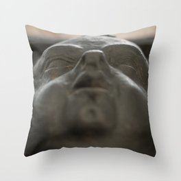 Baby Face: A Cherub Decorates St Dunstan in the East Throw Pillow