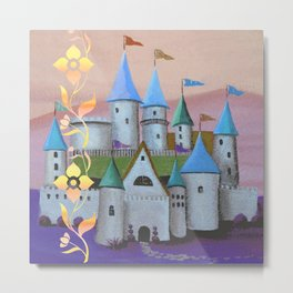 Enchanted Castle after Sunset Metal Print