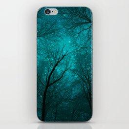 Simply Stare Upward (Dark Winter Sky) iPhone Skin
