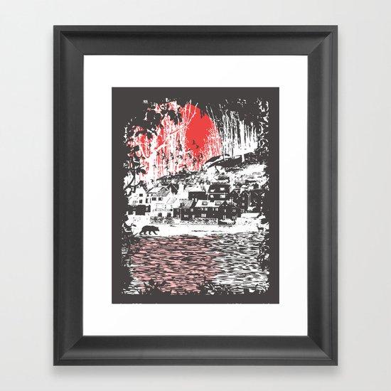 Cosmic Winter - Dark Framed Art Print