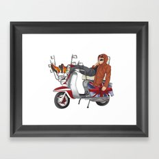 scooter is my soulmate Framed Art Print