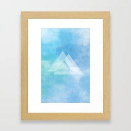 glas clouds Framed Art Print