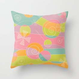 Abstract Pattern - Candyland Throw Pillow