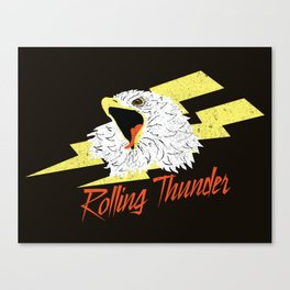 Screaming Eagle (Rolling Thunder) Canvas Print