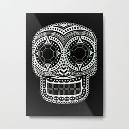 Pattern Skull 2 Metal Print