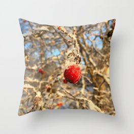 The Frost Winter Throw Pillow