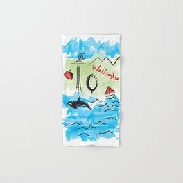 City scape - Seattle, Washington Hand & Bath Towel